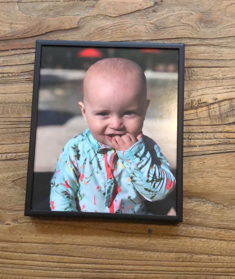 babyfoto einrahmen
