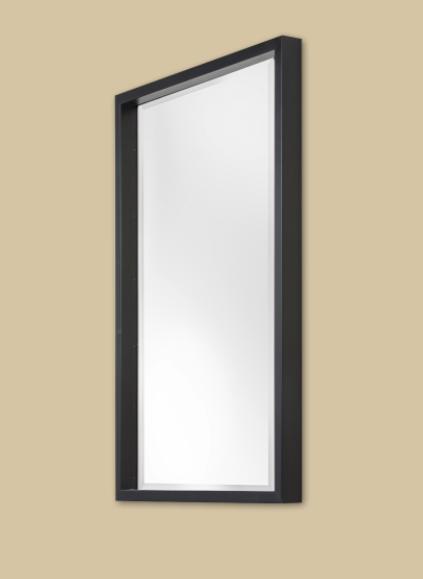Moderner Spiegel mit Schattenfuge